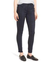 Wit & Wisdom - Ab-solution Plaid Slim Pants (nordstrom Exclusive) - Lyst
