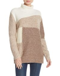 French Connection - Anna Patchwork Turtleneck - Lyst