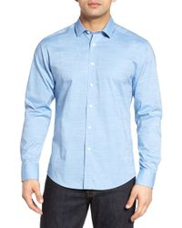 Vince Camuto - Trim Fit Dobby Dot Sport Shirt - Lyst