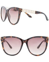 Guess - Women's Cat Eye Acetate Frame Sunglasses - Lyst