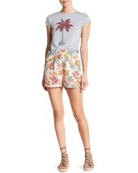 Romeo and Juliet Couture - High Waist Tropical Shorts - Lyst