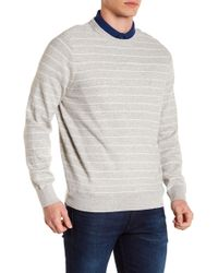 Nautica - Stripe Crew Neck Sweater - Lyst