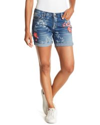 Vintage America - Bestie Embroidered Print Shorts - Lyst
