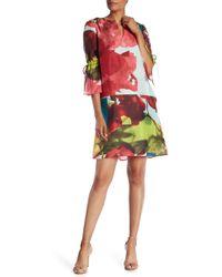 Lafayette 148 New York - Deandra Silk Abstract Print Dress - Lyst
