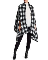Michael Stars | Buffalo Check Scarf Cape | Lyst