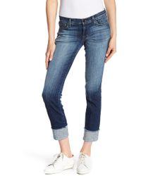 J Brand - Low Rise Cuffed Jeans - Lyst
