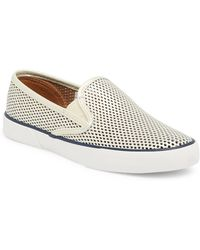Sperry Top-Sider - Pier Side Perforated Leather Slip-on Trainer - Lyst