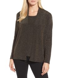 Chaus - Metallic Chevron Lurex Cardigan - Lyst