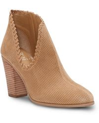 023412e6c1f Vince Camuto - Fernlee Perforated Suede Bootie - Lyst