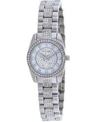 Bulova - Women's Crystal Accented Watch, 24mm - Lyst