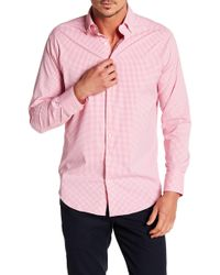 Peter Millar - Mimi Chequered Performance Athletic Fit Shirt - Lyst