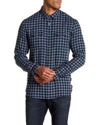 John Varvatos - Checkered Western Trim Fit Shirt - Lyst