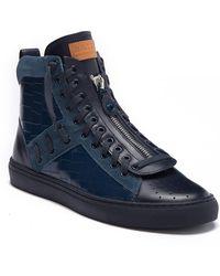 Bally - Hekem Crocodile Embossed Leather High-top Sneaker - Lyst