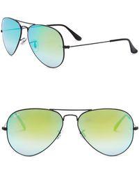 Ray-Ban - Icons 58mm Aviator Sunglasses - Lyst