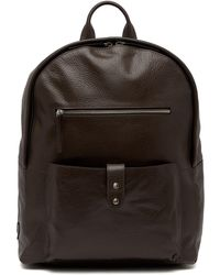 Cole Haan - Saunders Leather Zip Top Backpack - Lyst