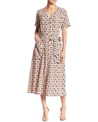 Paper Crown - Adige Printed Midi Dress - Lyst