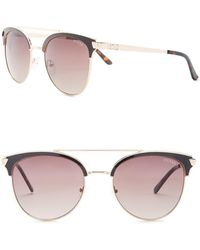 Guess - Clubmaster Metal Frame Sunglasses - Lyst