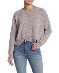 Lush - Scallop Edge Chenille Sweater - Lyst