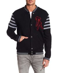 True Religion - Collegiate Knit Jacket - Lyst