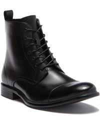 Kenneth Cole Reaction - Design Leather Cap Toe Boot - Lyst