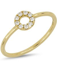 Bony Levy - 18k Yellow Gold Diamond Open Circle Ring - Lyst