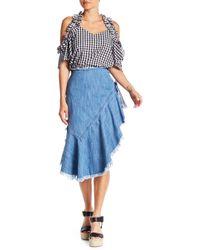 Do+Be Collection - Ruffled Asymmetrical Denim Skirt - Lyst