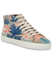 Rebecca Minkoff - Zaina Embroidered Mid Sneaker - Lyst