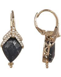 Jenny Packham - Crystal & Faceted Teardrop Stone Earrings - Lyst