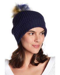 NORLA HATS - Homeward Faux Fur Pompom Beanie - Lyst