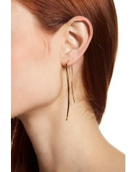 Argento Vivo | 18k Gold Plated Sterling Silver Concave Curved Threader Earrings | Lyst