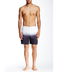 John Varvatos | Ombre Swimming Trunk | Lyst