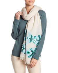 Tory Burch - Embellished Fish Oblong Scarf - Lyst