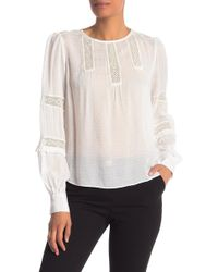 Laundry by Shelli Segal - Lace Trimmed Crew Neck Top - Lyst