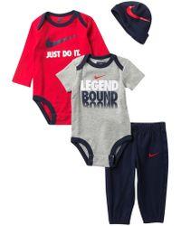 Nike - Legend 4-piece Gift Set (baby Boys) - Lyst