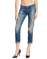 True Religion - Cameron Boyfriend Cropped Jeans - Lyst