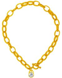 Karine Sultan - Crystal Toggle Necklace - Lyst