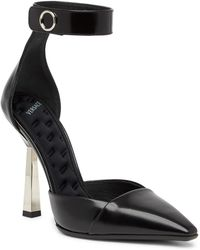 Versace - Leather D'orsay Pump - Lyst