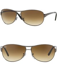 05ffcc18c9 Lyst - Ray-Ban 62mm Wrap Navigator Sunglasses in Black for Men