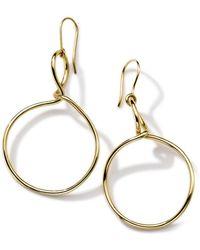 Ippolita - 18k Yellow Gold Hoop Drop Earrings - Lyst