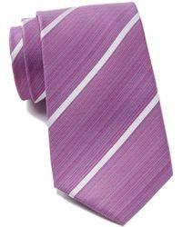 Kenneth Cole Reaction - Linear Silk Stripe Tie - Lyst