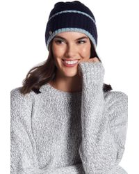 Anne Klein - Ribbed Knit Folded Beanie - Lyst
