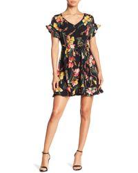 Haute Rogue - Ruffle Detail Floral Dress - Lyst