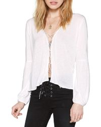 Amuse Society - Spencer Lace-up Top - Lyst