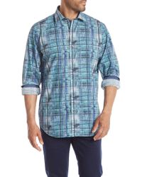 Bugatchi - Printed Woven Long Sleeve Regular Fit Shirt - Lyst