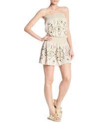 Sky - Phaedra Strapless Smocked Dress - Lyst