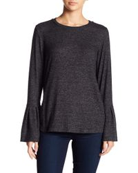 Gibson - Cosy Ruffle Bell Sleeve Pullover - Lyst