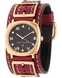Marc Jacobs - Women's Mandy Leather Strap Watch, 34mm - Lyst