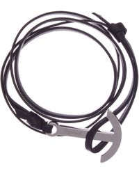 Miansai - Modern Anchor On Leather Bracelet - Lyst