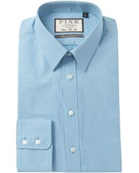 Thomas Pink - Errol Textured Super Slim Fit Dress Shirt - Lyst
