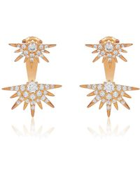 Melinda Maria - Barrie Cz Spike Jacket Earrings - Lyst